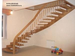 Деревянная лестница на больцах.Индивидуальные проекты